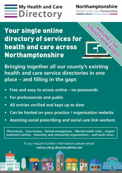 My Health and Care Directory – Northamptonshire Health and