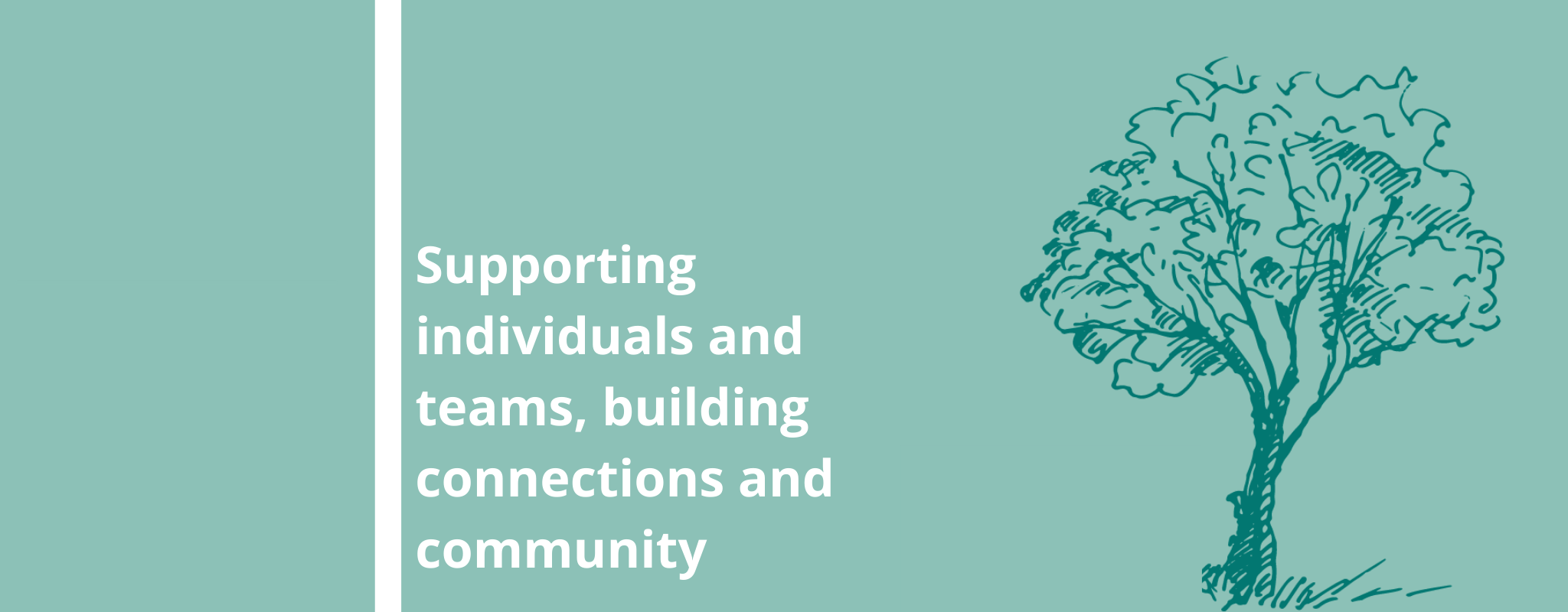 Supporting individuals and teams, building connections and community