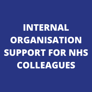 Internal organisation support for NHS colleagues