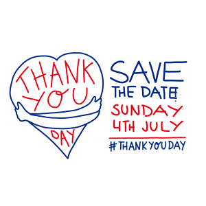 Save the date! Thank you day - sunday 4 July #ThankYouDay