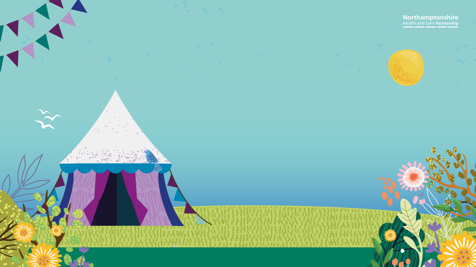 The Virtual Wellbeing Festival tent